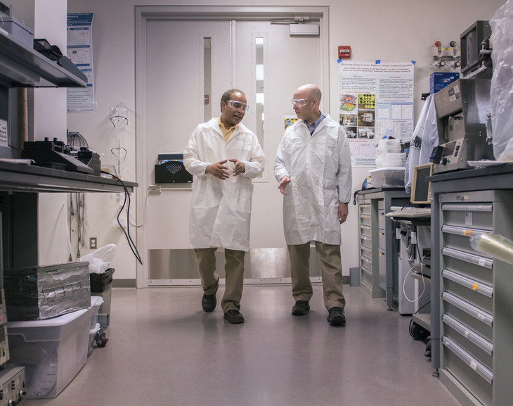 Electrical engineer Srinivas Tadigadapa and neurosurgeon Steve Schiff have joined forces to create a tiny magnetic device that can interact with brain cells without physically penetrating the brain.